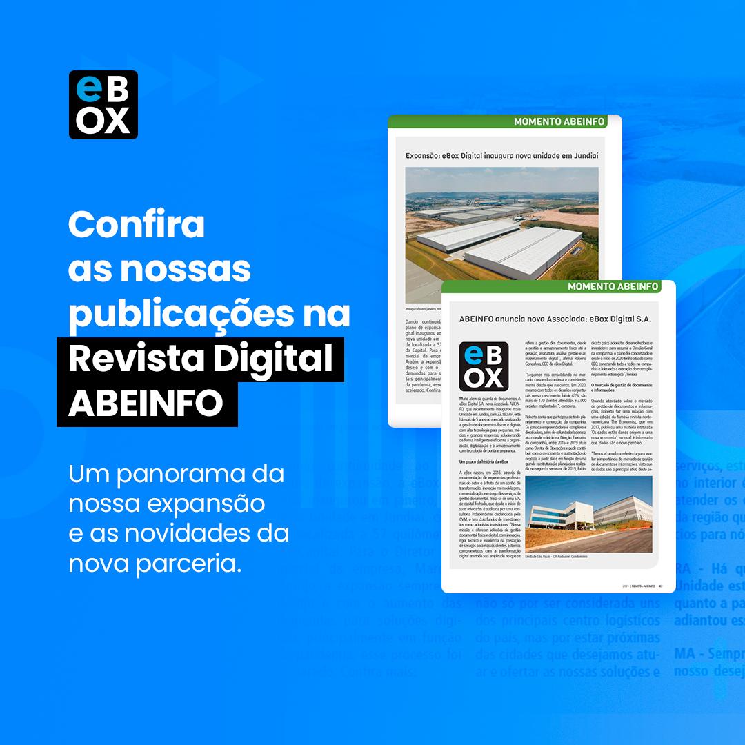 eBox Digital é destaque na edição de maio da Revista ABEINFO